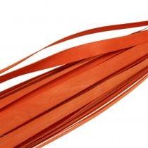 Houten strips voor vlechten oranje 95cm - 100cm 50p