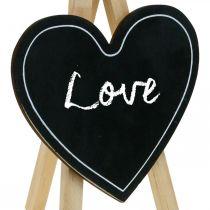 Houten bord, huwelijksdecoratie, krijtbord hart, decoratie Valentijnsdag, decoratiebord 6st