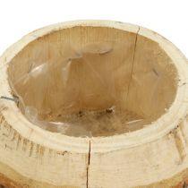 Houten pot voor het planten van de natuur Ø14cm