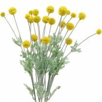 Drumstick gele kunstmatige Craspedia zijden bloemen
