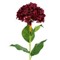 Hortensia kunst donkerrood 80cm 1p