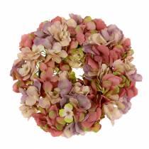 Hortensia krans oud roze Ø30cm