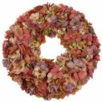 Hortensia krans oude roos Ø44cm