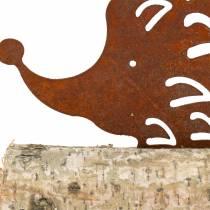 Egelpatina op de houten voet 14,5 cm x 17,5 cm