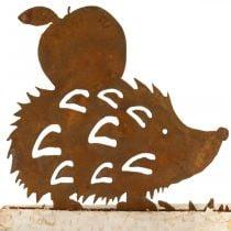 Roest egel decoratie berkenschors metaal herfst decoratie 20 × 4cm H10.5cm