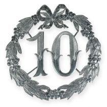Verjaardag nummer 10 in zilver