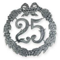 Verjaardag nummer 25 in zilver