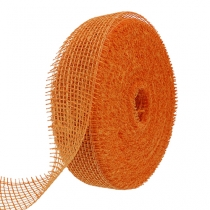 Jute lint licht oranje 5cm 40m