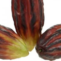 Cacaovrucht kunstdecoratie etalage paars-groen 17cm 3st