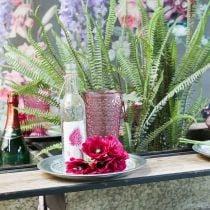 Kaarsenkop, bekerglas, lantaarn, glasdecoratie Ø10cm H18.5cm