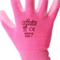 Kixx tuinhandschoenen maat 7 roze, roze