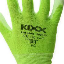 Kixx nylon tuinhandschoenen maat 8 lichtgroen, limoen