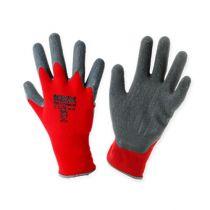 Kixx nylon tuinhandschoenen maat 8 rood, grijs