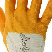 Kixx werkhandschoenen maat 8 geel
