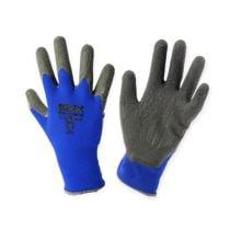Kixx nylon tuinhandschoenen maat 8 blauw, zwart