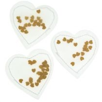 Confetti hart goud 5cm 24st