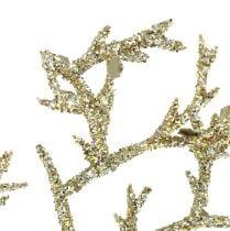 Koraaltak met mica licht goud 3st