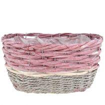 Ovale mand, set van 3 roze, natuurlijk