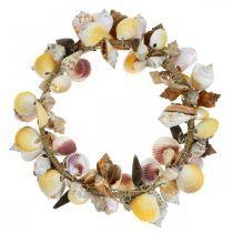 Sierkrans schelpen en slakken natuur Maritieme decoratie Ø30cm