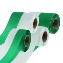 Kranslinten moiré groen-wit vers. Breedte 25m