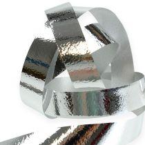 Afgebroken lint glanzend 10 mm 250 m zilver