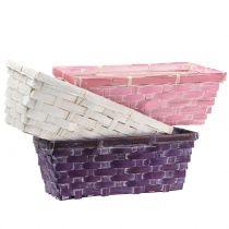 Chipmand vierkant paars / wit / roze 6st