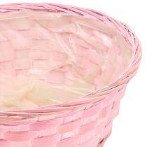 Chipmand rond paars / wit / roze Ø25cm 6st