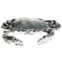 Deco kanker antiek zilver 12cm