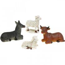 Kerststal kerststal dieren set met 4 figuren