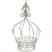 Kroon van champagne glitter Ø15.5cm H26cm