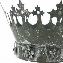 Tafeldecoratie, decoratieve kroon, metalen windlicht, plantenbak, metalen decoratie