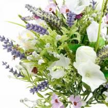Kunstboeket, tafeldecoraties, zijden bloemen, lenteboeket kleurrijk