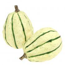 Decoratieve pompoencrème, groen 11cm 6st