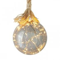 LED bal binnenverlichting bal met touw Ø14cm 30L warm wit