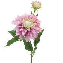 Kunstbloem dahlia lila 63cm
