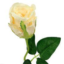 Kunstbloemen roos creme Ø6cm L50cm 6st