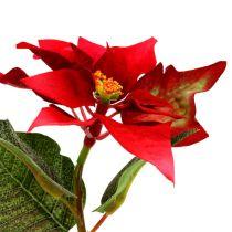 Kunstbloemen poinsettia rood L73cm