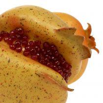 Kunst fruit granaatappel met zaden Ø6cm - Ø7cm L18cm