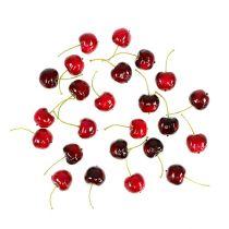 Kunst fruit zoete kersen mix Ø2,5cm 24st