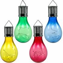 Tuindecoratie LED lamp op zonne-energie assorti 15cm 4st
