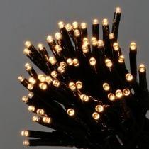 LED-lichtketting zwart, warmwit 448 voor buiten 3m