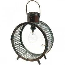 Lamp op zonne-energie metaal balkon deco industrieel design Ø23cm