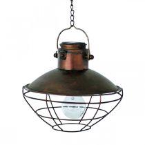 LED hanglamp, rustieke hanglamp op zonne-energie Ø24,5cm H24cm