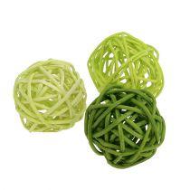 Lataball 3cm groen gebleekt 72st