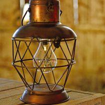 Lantaarn op zonne-energie, LED hanglamp industriële look Ø16cm H32cm