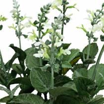 Kunst lavendel pot, decoratieve lavendel, zijden bloem in wit