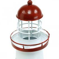 Vuurtoren rode maritieme decoratie metalen zomerdecoratie