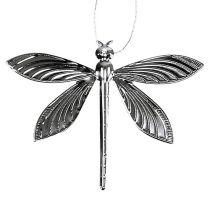 Libellen voor opknoping zilver 6,5 cm x 5 cm 36 stks