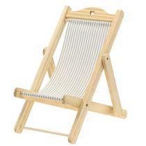 Decoratieve ligstoel grijs-wit H24cm