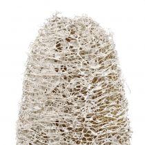 Luffa klein op stok wit gewassen 25st